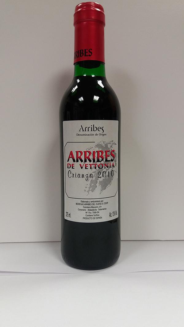 Botella vino arribes crianza 37cl