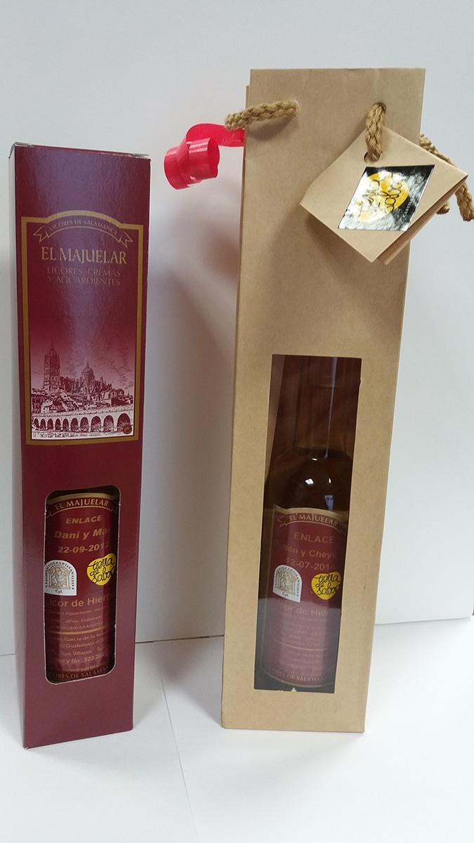 Modelo de embalajes para botellas de 20cl